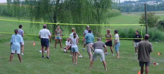Members Playing Volleyball